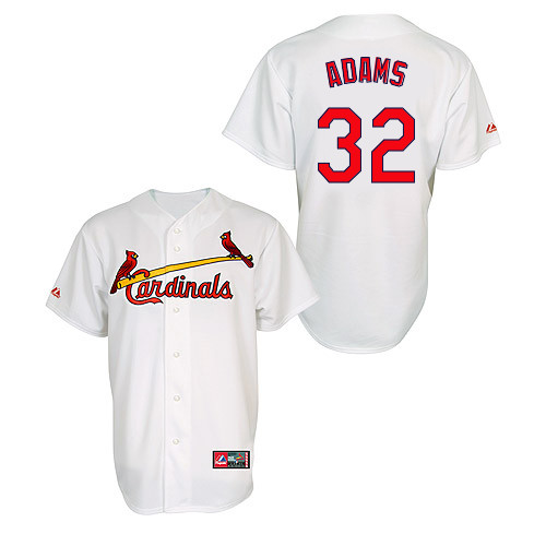 Matt Adams #32 MLB Jersey-St Louis Cardinals Men\'s Authentic Home Jersey by Majestic Athletic Baseball Jersey