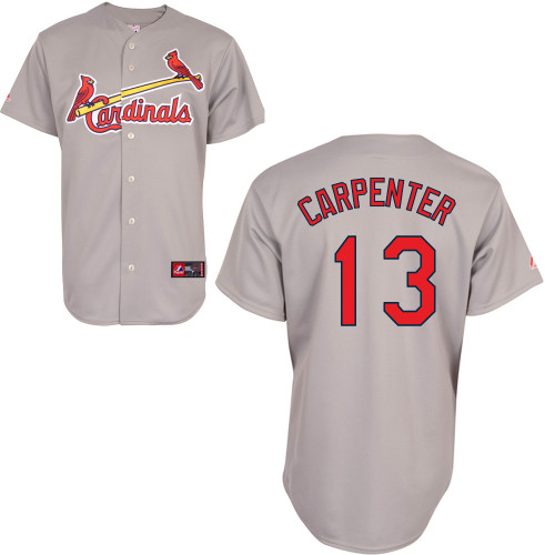 Matt Carpenter #13 Youth Baseball Jersey-St Louis Cardinals Authentic Road Gray Cool Base MLB Jersey