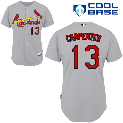 Matt Carpenter #13 MLB Jersey-St Louis Cardinals Men's Authentic Road Gray Cool Base Baseball Jersey