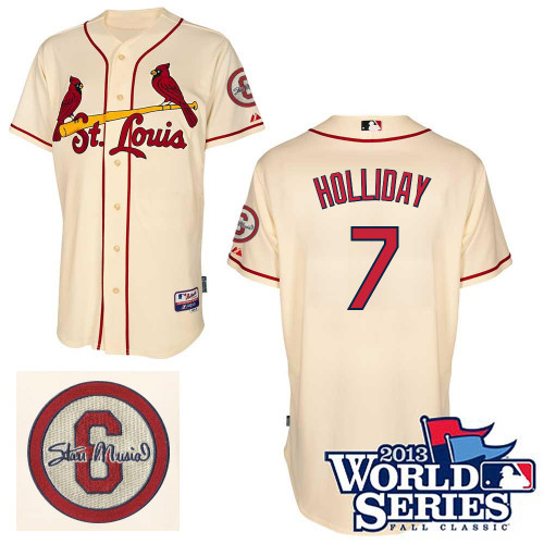 Matt Holliday #7 mlb Jersey-St Louis Cardinals Women's Authentic Commemorative Musial 2013 World Series Baseball Jersey