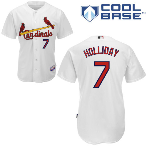 Matt Holliday #7 Youth Baseball Jersey-St Louis Cardinals Authentic Home White Cool Base MLB Jersey