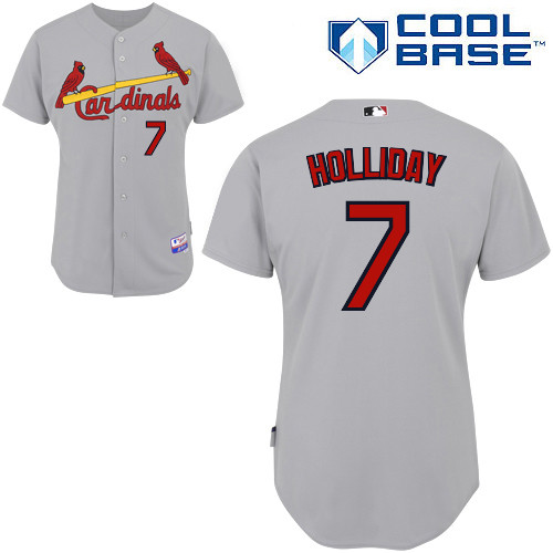 Matt Holliday #7 MLB Jersey-St Louis Cardinals Men's Authentic Road Gray Cool Base Baseball Jersey