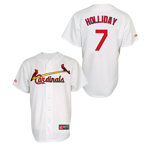 Matt Holliday #7 MLB Jersey-St Louis Cardinals Men's Authentic Home Jersey by Majestic Athletic Baseball Jersey