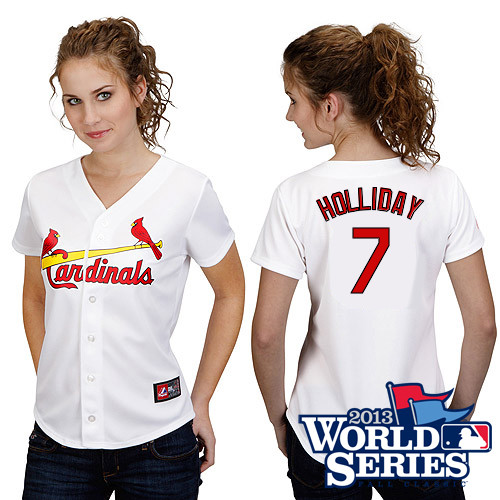 Matt Holliday #7 mlb Jersey-St Louis Cardinals Women's Authentic Road Gray Cool Base Baseball Jersey