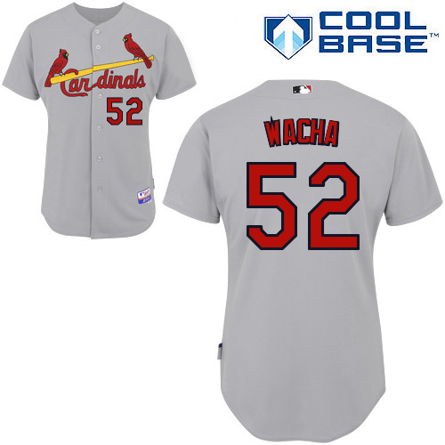 Michael Wacha #52 MLB Jersey-St Louis Cardinals Men's Authentic Road Gray Cool Base Baseball Jersey