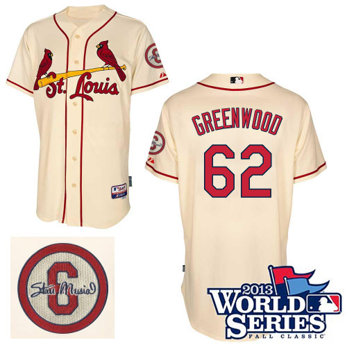 Nick Greenwood #62 MLB Jersey-St Louis Cardinals Men's Authentic Commemorative Musial 2013 World Series Baseball Jersey