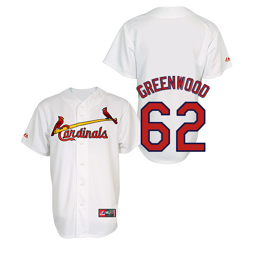 Nick Greenwood #62 Youth Baseball Jersey-St Louis Cardinals Authentic Home Jersey by Majestic Athletic MLB Jersey