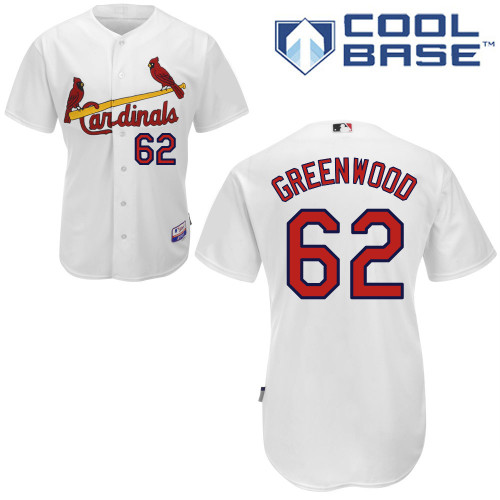 Nick Greenwood #62 MLB Jersey-St Louis Cardinals Men's Authentic Home White Cool Base Baseball Jersey