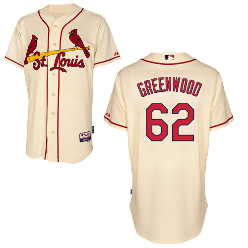 Nick Greenwood #62 MLB Jersey-St Louis Cardinals Men's Authentic Alternate Cool Base Baseball Jersey