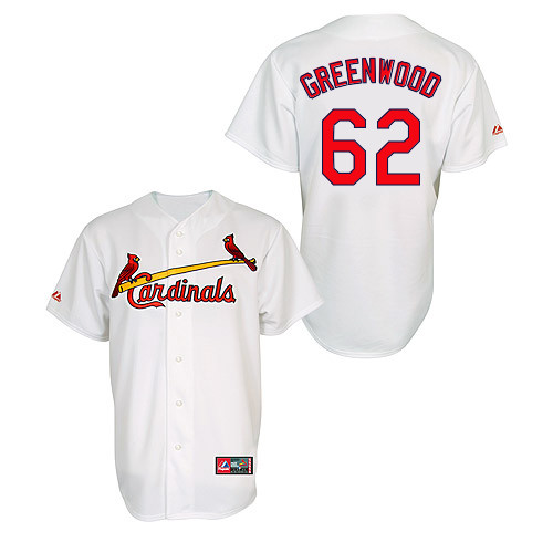 Nick Greenwood #62 MLB Jersey-St Louis Cardinals Men's Authentic Home Jersey by Majestic Athletic Baseball Jersey