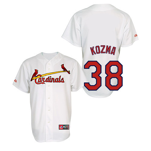 Pete Kozma #38 Youth Baseball Jersey-St Louis Cardinals Authentic Home Jersey by Majestic Athletic MLB Jersey