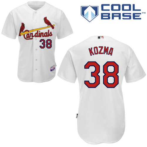 Pete Kozma #38 Youth Baseball Jersey-St Louis Cardinals Authentic Home White Cool Base MLB Jersey