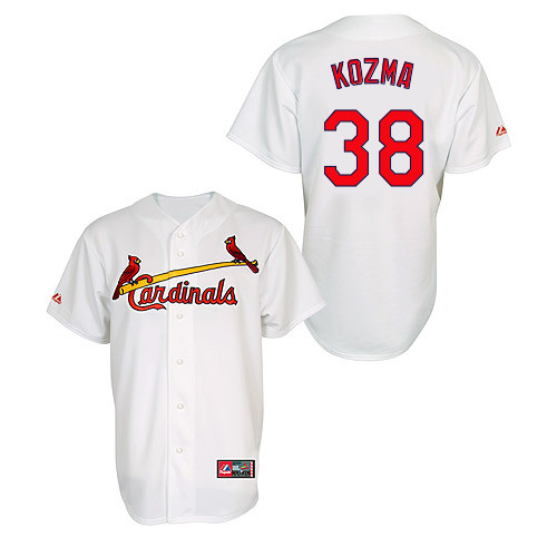 Pete Kozma #38 MLB Jersey-St Louis Cardinals Men's Authentic Home Jersey by Majestic Athletic Baseball Jersey
