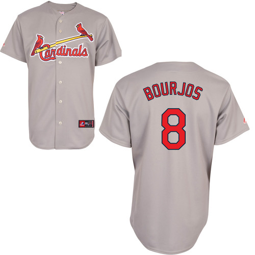 Peter Bourjos #8 Youth Baseball Jersey-St Louis Cardinals Authentic Road Gray Cool Base MLB Jersey