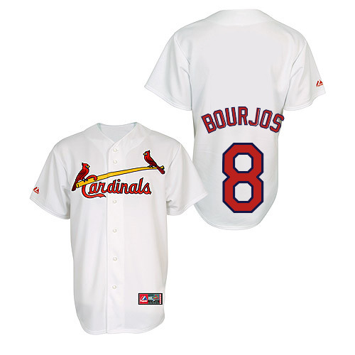 Peter Bourjos #8 Youth Baseball Jersey-St Louis Cardinals Authentic Home Jersey by Majestic Athletic MLB Jersey