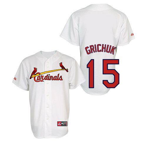Randal Grichuk #15 Youth Baseball Jersey-St Louis Cardinals Authentic Home Jersey by Majestic Athletic MLB Jersey
