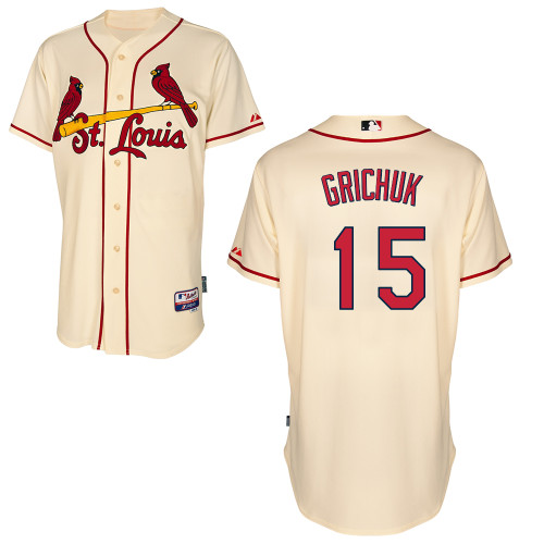 Randal Grichuk #15 MLB Jersey-St Louis Cardinals Men's Authentic Alternate Cool Base Baseball Jersey