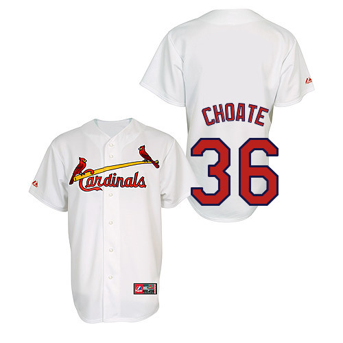 Randy Choate #36 Youth Baseball Jersey-St Louis Cardinals Authentic Home Jersey by Majestic Athletic MLB Jersey