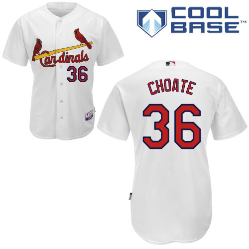 Randy Choate #36 mlb Jersey-St Louis Cardinals Women\'s Authentic Home White Cool Base Baseball Jersey