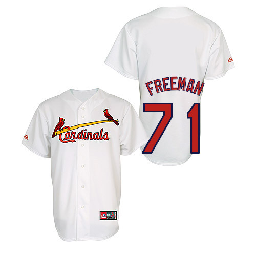 Sam Freeman #71 Youth Baseball Jersey-St Louis Cardinals Authentic Home Jersey by Majestic Athletic MLB Jersey