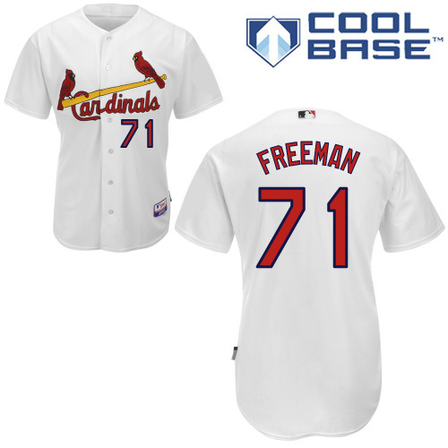 Sam Freeman #71 MLB Jersey-St Louis Cardinals Men's Authentic Home White Cool Base Baseball Jersey