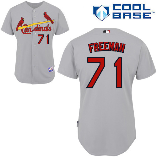 Sam Freeman #71 MLB Jersey-St Louis Cardinals Men's Authentic Road Gray Cool Base Baseball Jersey