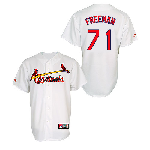 Sam Freeman #71 MLB Jersey-St Louis Cardinals Men's Authentic Home Jersey by Majestic Athletic Baseball Jersey