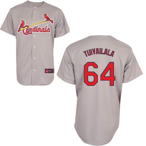 Sam Tuivailala #64 Youth Baseball Jersey-St Louis Cardinals Authentic Road Gray Cool Base MLB Jersey