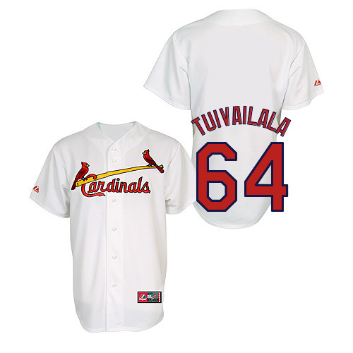Sam Tuivailala #64 Youth Baseball Jersey-St Louis Cardinals Authentic Home Jersey by Majestic Athletic MLB Jersey