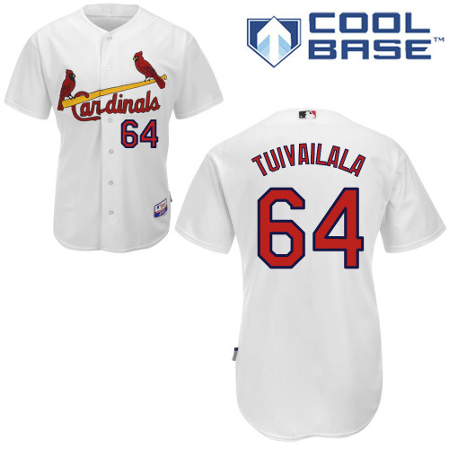Sam Tuivailala #64 Youth Baseball Jersey-St Louis Cardinals Authentic Home White Cool Base MLB Jersey
