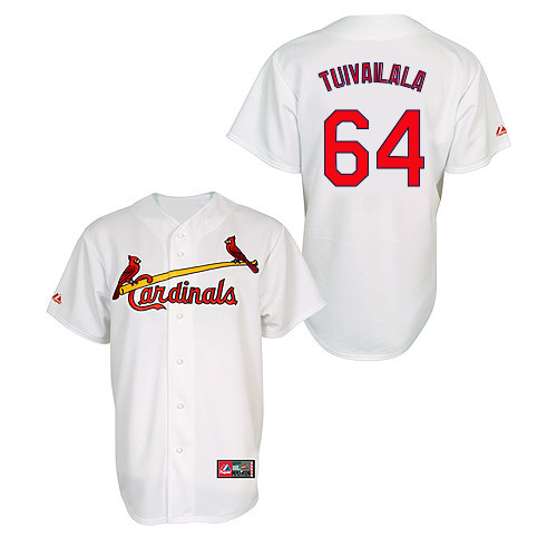 Sam Tuivailala #64 MLB Jersey-St Louis Cardinals Men's Authentic Home Jersey by Majestic Athletic Baseball Jersey