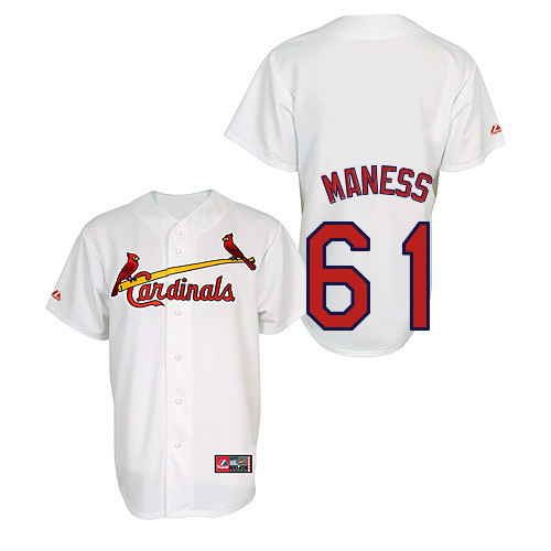 Seth Maness #61 Youth Baseball Jersey-St Louis Cardinals Authentic Home Jersey by Majestic Athletic MLB Jersey
