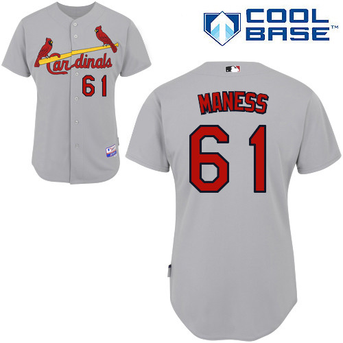 Seth Maness #61 MLB Jersey-St Louis Cardinals Men's Authentic Road Gray Cool Base Baseball Jersey