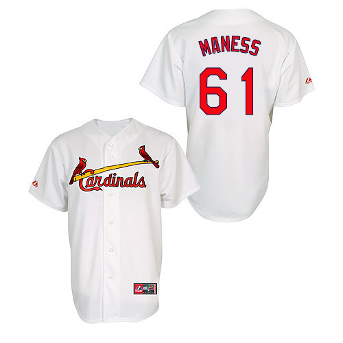 Seth Maness #61 MLB Jersey-St Louis Cardinals Men's Authentic Home Jersey by Majestic Athletic Baseball Jersey