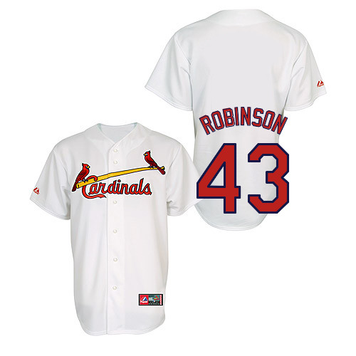 Shane Robinson #43 Youth Baseball Jersey-St Louis Cardinals Authentic Home Jersey by Majestic Athletic MLB Jersey