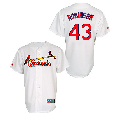 Shane Robinson #43 MLB Jersey-St Louis Cardinals Men's Authentic Home Jersey by Majestic Athletic Baseball Jersey