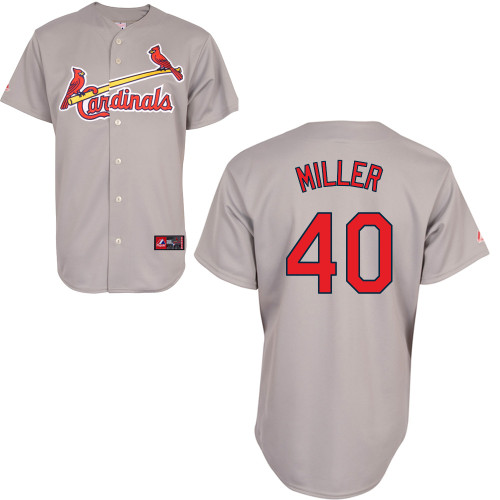 Shelby Miller #40 Youth Baseball Jersey-St Louis Cardinals Authentic Road Gray Cool Base MLB Jersey