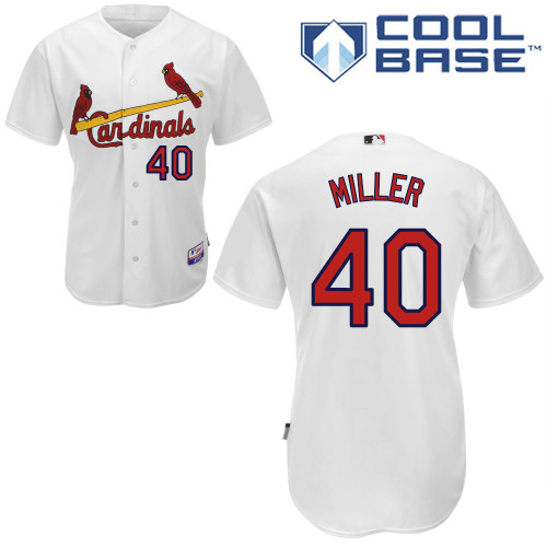Shelby Miller #40 Youth Baseball Jersey-St Louis Cardinals Authentic Home White Cool Base MLB Jersey