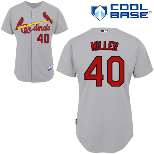 Shelby Miller #40 MLB Jersey-St Louis Cardinals Men's Authentic Road Gray Cool Base Baseball Jersey