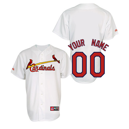 Customized Youth MLB jersey-St Louis Cardinals Authentic Home Jersey by Majestic Athletic Baseball Jersey