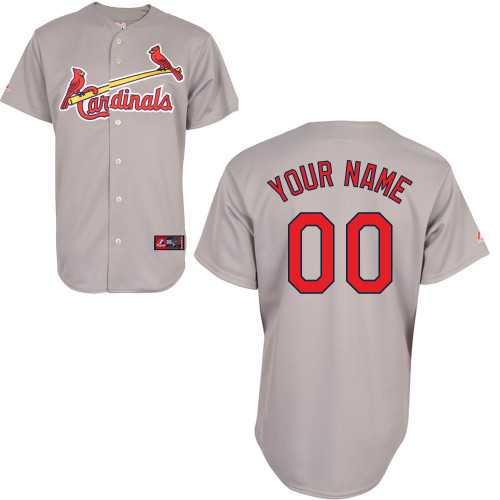 Customized Youth MLB jersey-St Louis Cardinals Authentic Road Gray Cool Base Baseball Jersey