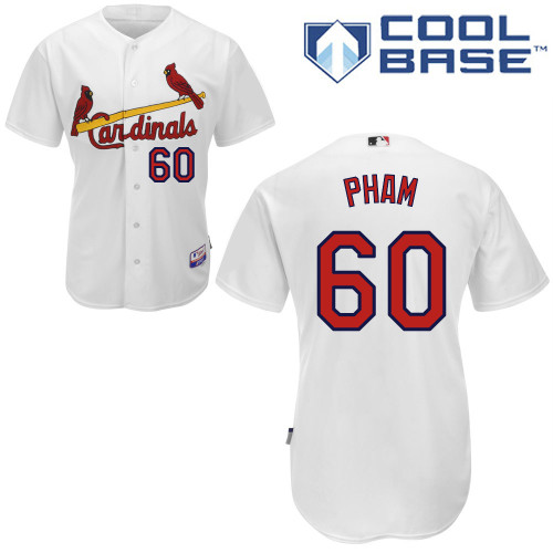 Tommy Pham #60 mlb Jersey-St Louis Cardinals Women's Authentic Home White Cool Base Baseball Jersey