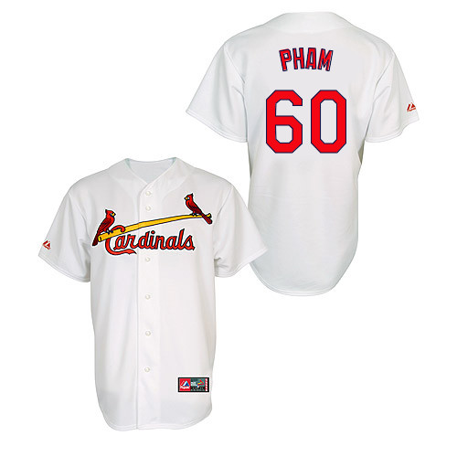 Tommy Pham #60 MLB Jersey-St Louis Cardinals Men's Authentic Home Jersey by Majestic Athletic Baseball Jersey