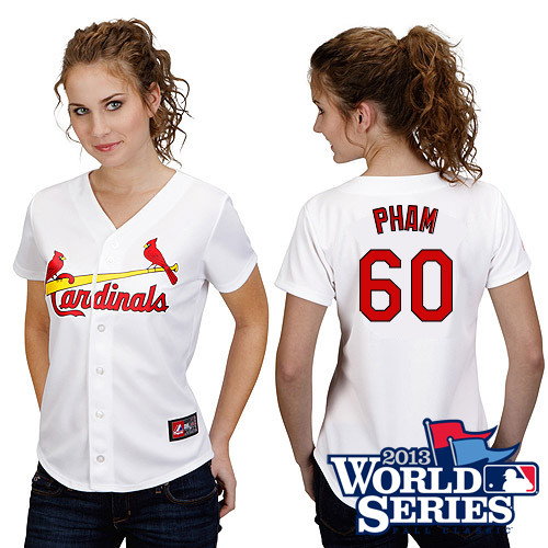 Tommy Pham #60 mlb Jersey-St Louis Cardinals Women\'s Authentic Road Gray Cool Base Baseball Jersey