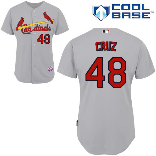 Tony Cruz #48 MLB Jersey-St Louis Cardinals Men's Authentic Road Gray Cool Base Baseball Jersey