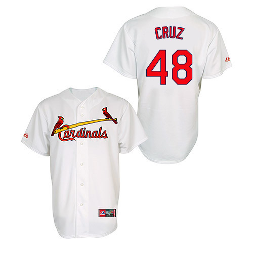 Tony Cruz #48 MLB Jersey-St Louis Cardinals Men's Authentic Home Jersey by Majestic Athletic Baseball Jersey
