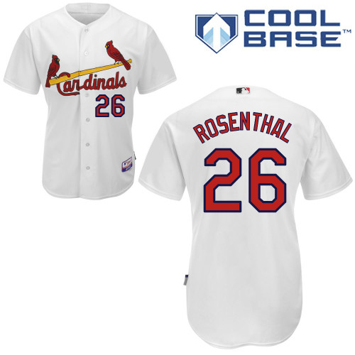 Trevor Rosenthal #26 MLB Jersey-St Louis Cardinals Men's Authentic Home White Cool Base Baseball Jersey