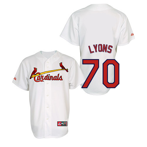 Tyler Lyons #70 Youth Baseball Jersey-St Louis Cardinals Authentic Home Jersey by Majestic Athletic MLB Jersey