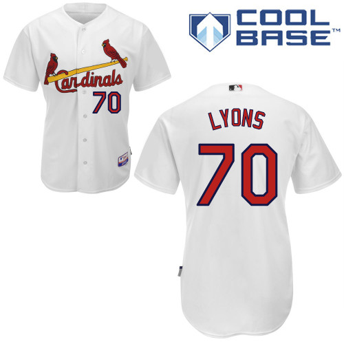 Tyler Lyons #70 Youth Baseball Jersey-St Louis Cardinals Authentic Home White Cool Base MLB Jersey