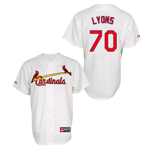 Tyler Lyons #70 MLB Jersey-St Louis Cardinals Men's Authentic Home Jersey by Majestic Athletic Baseball Jersey